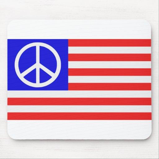 US flag peace Mouse Pads
