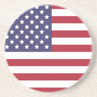 US Flag Quarter Sandstone Coaster
