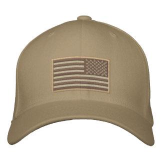 US Flag reversed desert Embroidered Baseball Cap