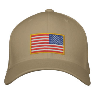 US Flag reversed Embroidered Baseball Caps