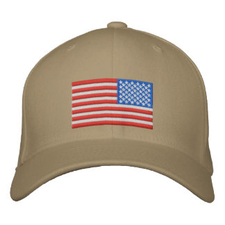 US Flag - Reversed Embroidered Cap