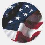 US flag Round Stickers