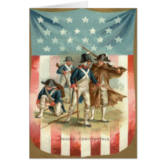 US Flag Shield Continental Army Greeting Card