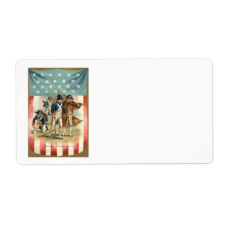 US Flag Shield Continental Army Shipping Label