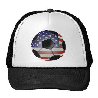US Flag Soccer Ball Hats