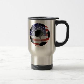 US Flag Soccer Ball Coffee Mug