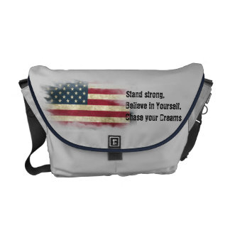 US Flag. Stand strong, believe in yourself Courier Bag