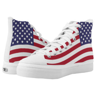 US Flag Stars and Stripes Old Glory High Tops