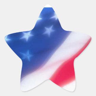 US Flag Star Sticker