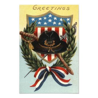 US Flag Sword Shield Wreath Photo
