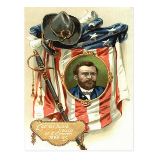 US Flag Ulysses S Grant Sword Cavalry Post Cards