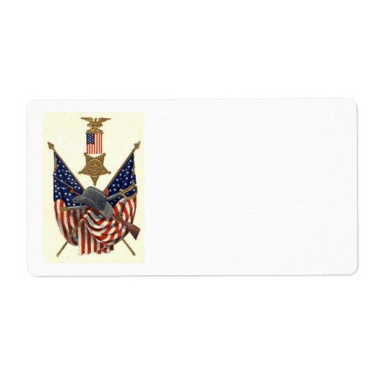 US Flag Union Civil War Medal Eagle