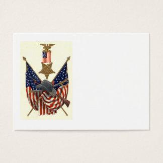 US Flag Union Civil War Medal Eagle Business Card