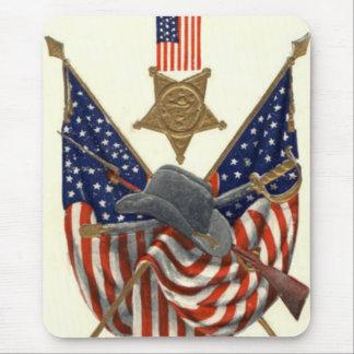 US Flag Union Civil War Medal Eagle Mouse Mat