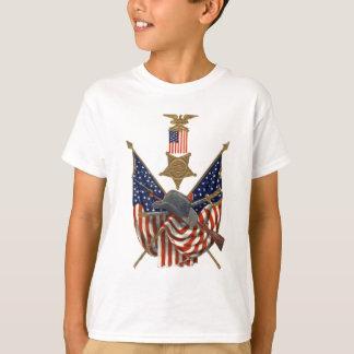 US Flag Union Civil War Medal Eagle T-Shirt