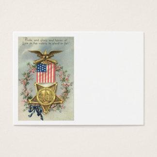US Flag Union Civil War Medal Eagle Wreath Business Card