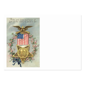 US Flag Union Civil War Medal Eagle Wreath Pack Of Chubby Business Cards