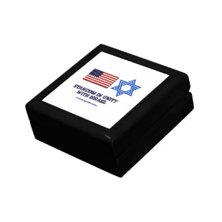 US Flag Unity with Israel Small Square Gift Box