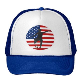US Flag USA Women's Soccer Hat