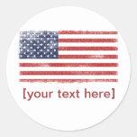 US flag vintage Stickers