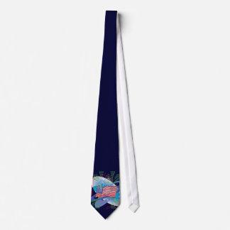 US Flag w/ Fireworks Tie