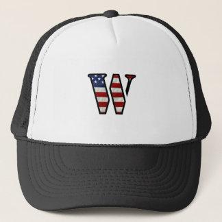 "US Flag ""W"" Trucker Hat"