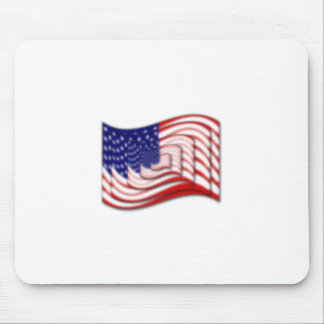 US Flag Wave Stacked Diffuse Mouse Pad