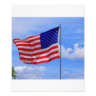 US Flag with Blue Sky PHOTO ENLARGEMENT