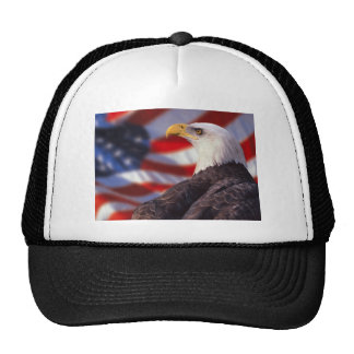 US Flag with Eagle Pride Mesh Hats