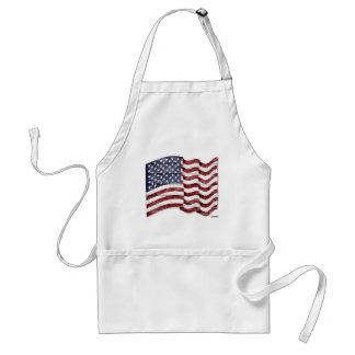 US Flag with wood grain Apron