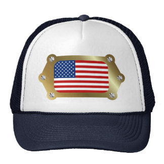US framed Flag Hat