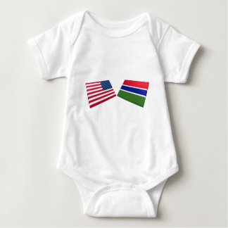 US & Gambia Flags T-shirts