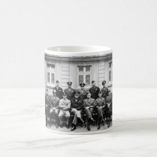 US Generals WWII -- Ike, Patton, Bradley Basic White Mug