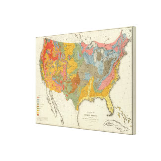 US Geological Map Canvas Print