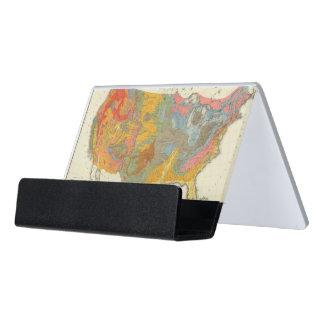 US Geological Map Desk Business Card Holder