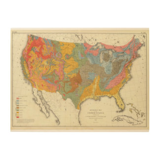 US Geological Map Wood Wall Art