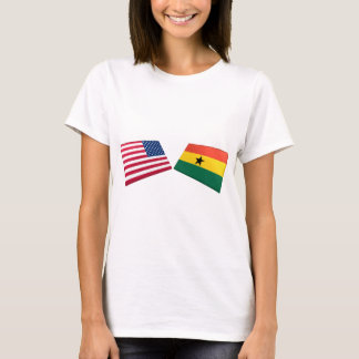 US & Ghana Flags T-Shirt