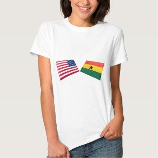US & Ghana Flags Tees