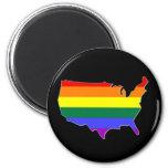 US GLBT Pride 6 Cm Round Magnet