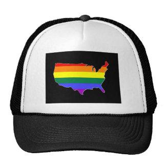 US GLBT Pride Trucker Hat
