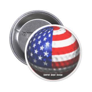 US Golf 6 Cm Round Badge