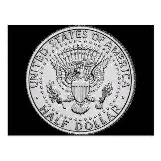 US Great Seal Half Dollar Postcard