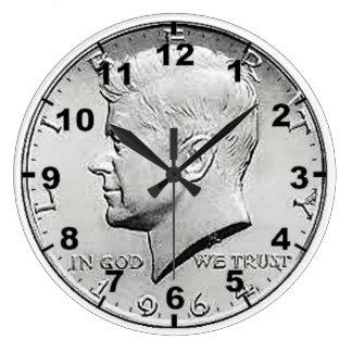 """US Half Dollar Coin"" design wall clocks"