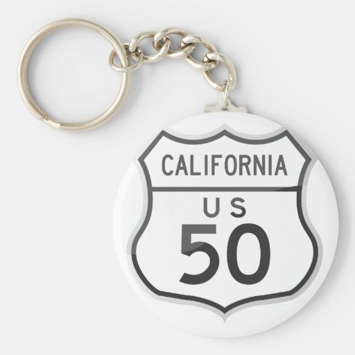 US Highway 50 California Road Trip Keychain