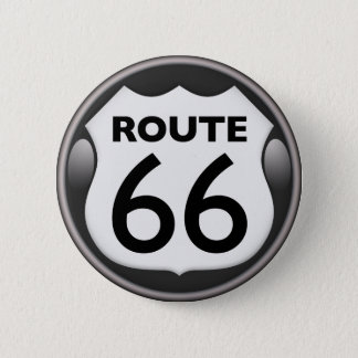 US Historic Route 66 6 Cm Round Badge