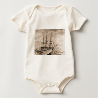 US Historic ship Independence 1815 Baby Bodysuit