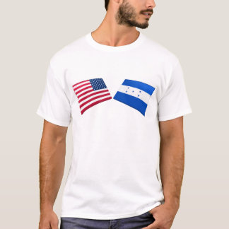 US & Honduras Flags T-Shirt