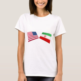 US & Iran Flags T-Shirt