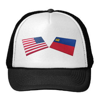 US & Liechtenstein Flags Cap