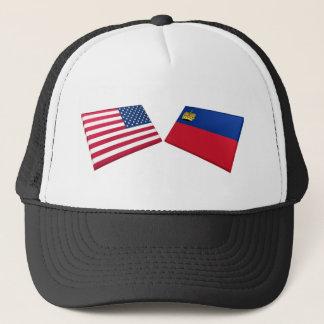 US & Liechtenstein Flags Trucker Hat